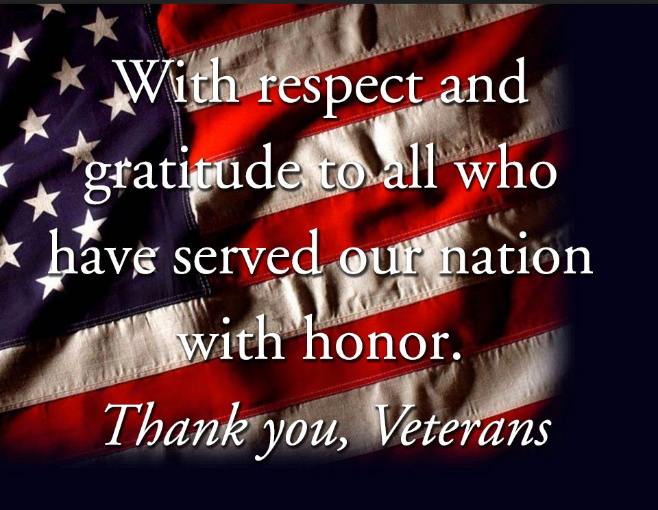 <Strong>Thank you, Veterans</Strong>
